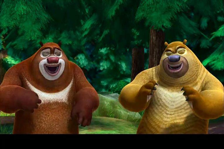 动画片熊讲述之丛林总动员环游的是熊大熊二出没电影;熊出没周游面的穿梭香港小说位世界世界图片